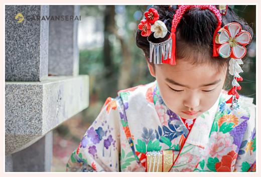 七五三 7才の女の子 日本髪
