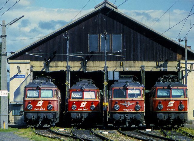 ÖBB 1042 578 + 546 + 579 + 511 Graz 13/08/1986