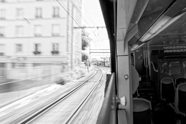 Transport, RER D, B&W, 3