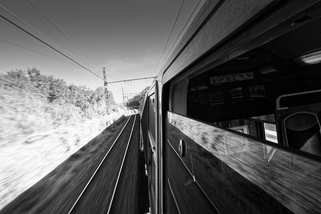 Transport, RER D, B&W, 7