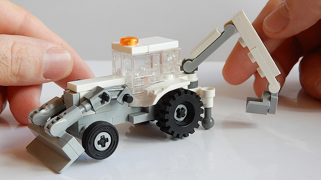 Small Lego Backhoe Loader (MOC - 4K)