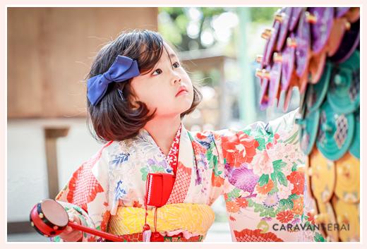 七五三 和装姿の女の子