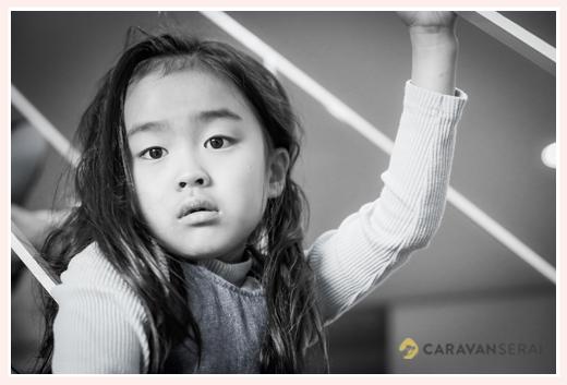 7歳の女の子 ロングヘア―