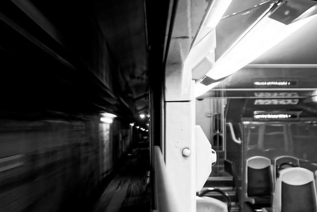Transport, RER D, B&W, 6