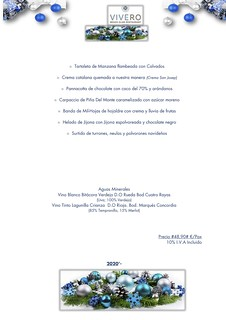 Navidad/S.Esteban - Vivero - Postres