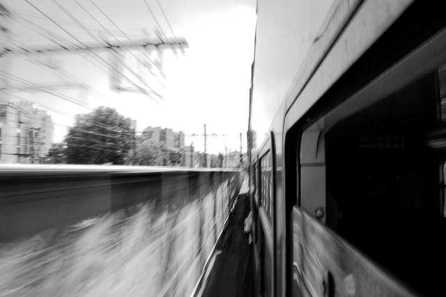 Transport, RER D, B&W, 4