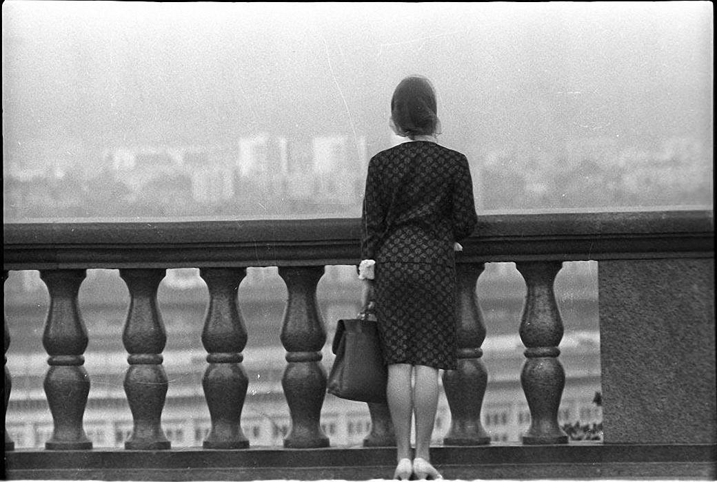 1960-е. У парапета. Воробьевы горы