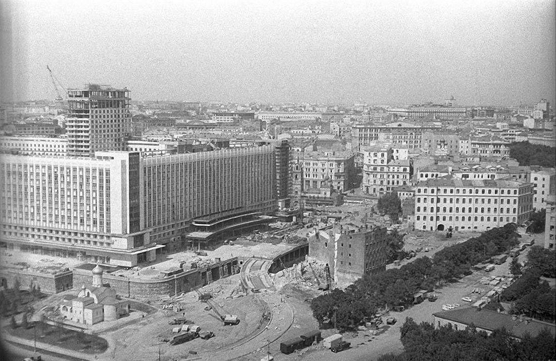 1960-е. Строительство гостиницы Россия