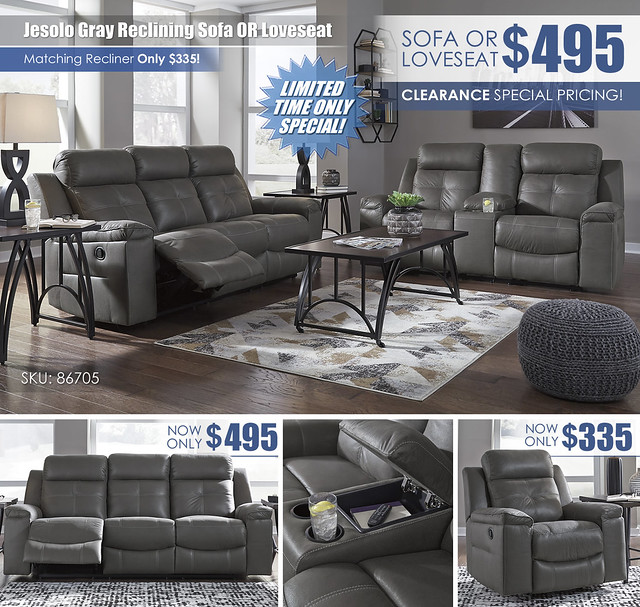 Jesolo Gray Reclining Sofa OR Loveseat_86705_Update