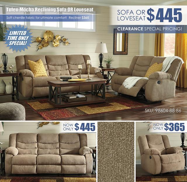 Tulen Mocha Reclining Sofa OR Loveseat Special_98604-88-86_Update