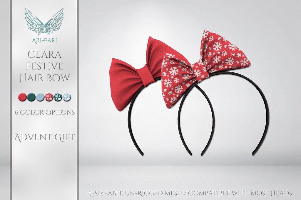 [Ari-Pari] Clara Festive Hair Bow