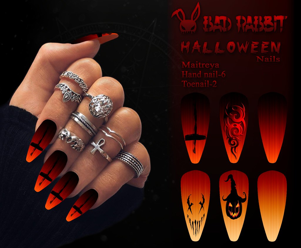.:Bad Rabbit:. Halloween Nails