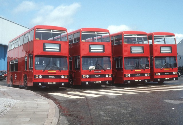 London Transport Leyland Titans await delivery at Lillyhall Workington