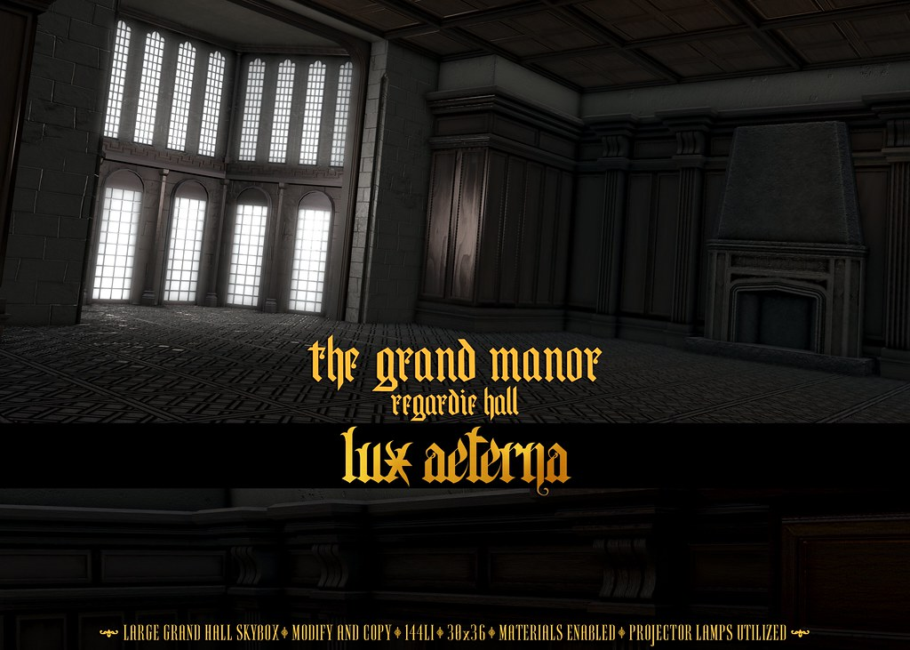 "LUX AETERNA ""The Grand Manor: Regardie Hall"" @ Collabor88"