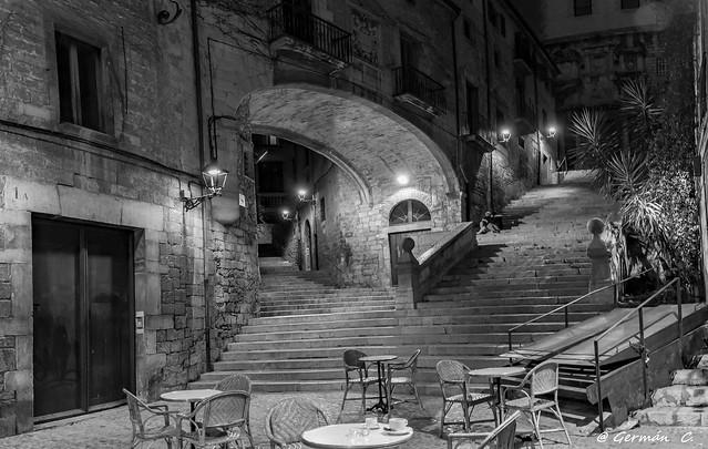 Passeig de nit, pujada de Sant Domènec