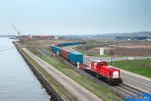 6512 db cargo belgium z44588 ligne 214 hermalle sous argenteau 8 decembre 2020 laurent joseph www wallorail be
