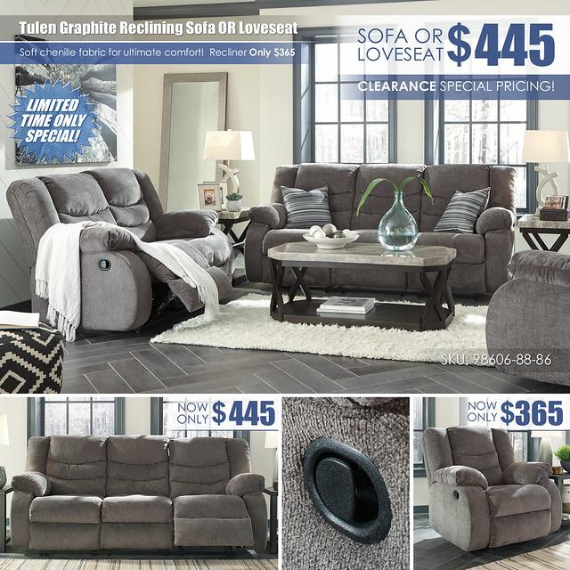 Tulen Graphite Reclining Sofa OR Loveseat Special_98606-88-86-25_Update