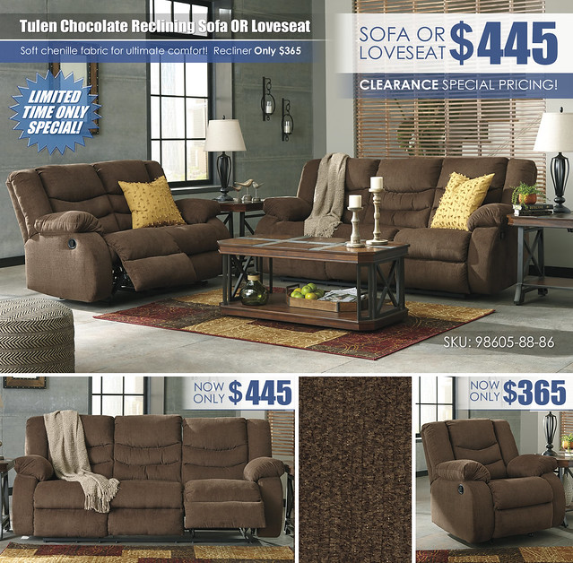 Tulen Chocolate Reclining Sofa OR Loveseat Special_98605-88-86-T552_Update