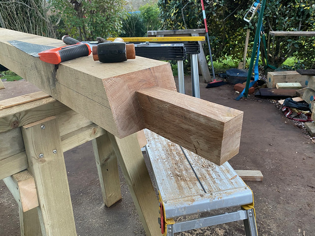 Scarf joint tenon