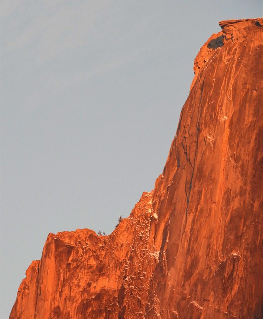 Half Dome at Sunset (detail)