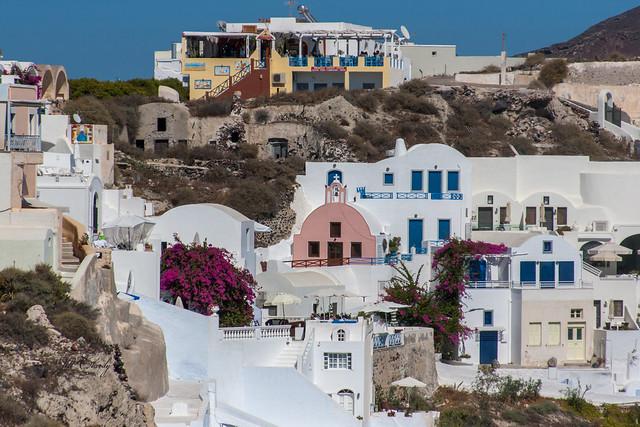 Armchair Traveling - On Santorini