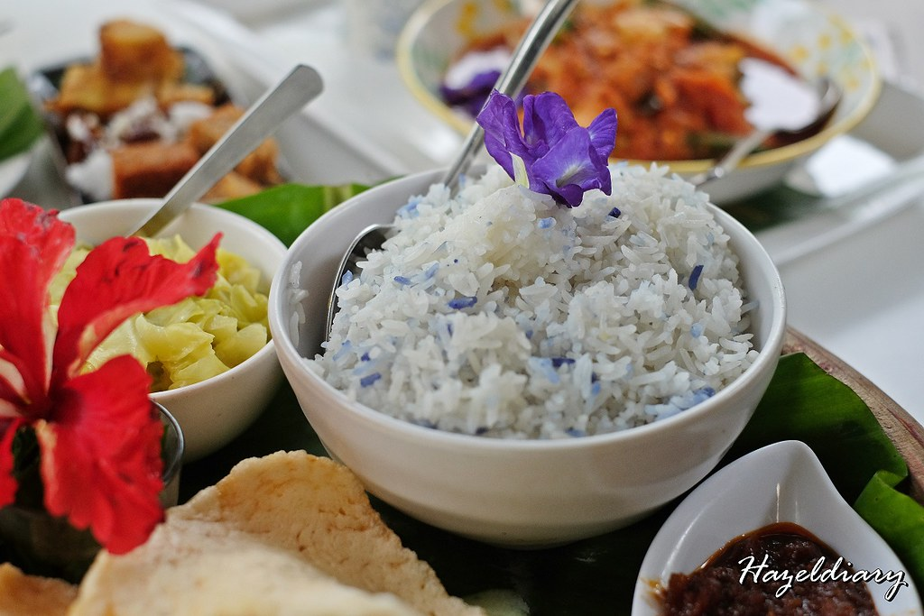 Bollywood Veggies-Poison Ivy Bistro- Blue Pea Rice