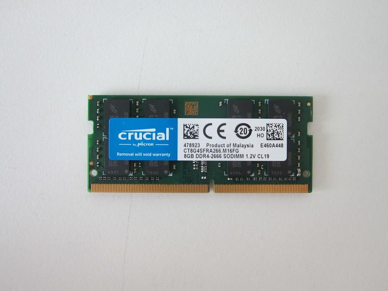 Crucial 8GB DDR4 2666 (PC4-21300) SODIMM 260-Pin RAM - Front