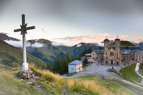 The Sanctuary of Our Lady of La Salette, France. From Great Pilgrimage Sites of Europe. Photo copyright Derry Brabbs