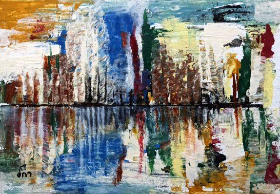 אמנות עכשווית  רחל פרנק יוצרת ישראלית ציירת מודרנית rachel frank מופשט מופשטים
