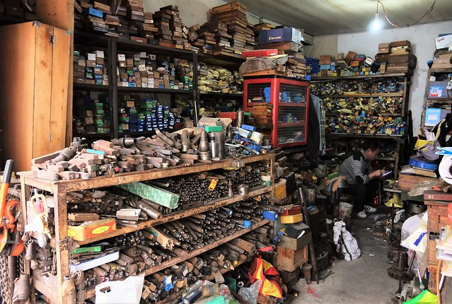 China Wuhan hole-in-the-wall hardware store near Baocheng Road late 2019 -