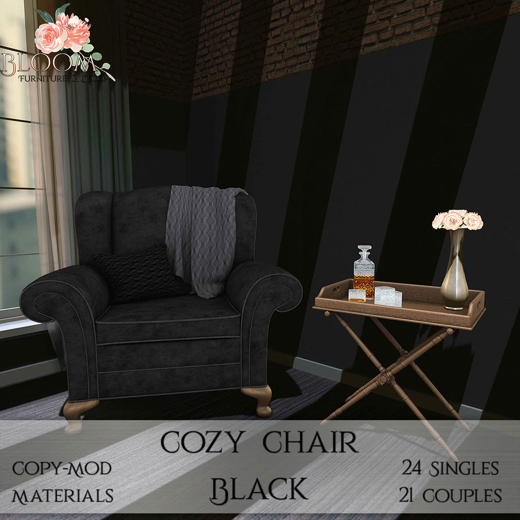 Bloom! – Cozy Chair BlackAD