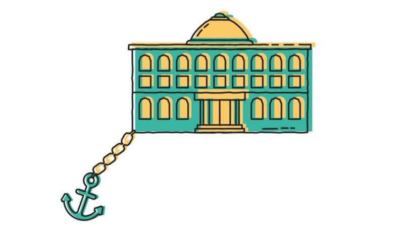 Illustration of a university