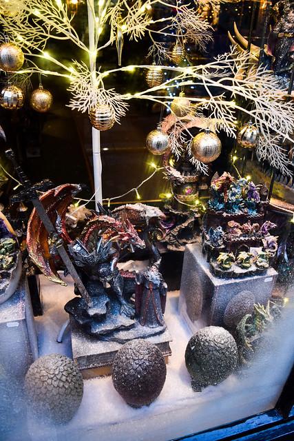 House of Secrets Dragon Fitzgerald Jewellers Canterbury Christmas Window 2020