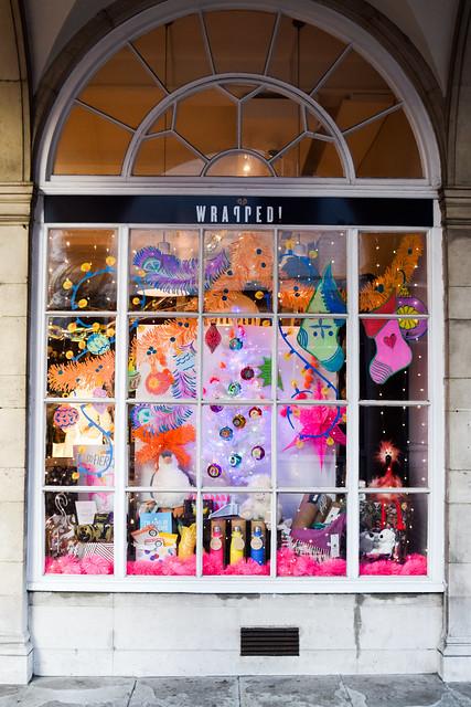Wrapped Canterbury Christmas Window 2020