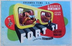 CARTELERAS DE CINE. Cine en relieve con gafas. 8