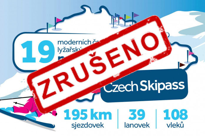 Czech Skipass na zimní sezónu 2020/21 zrušen