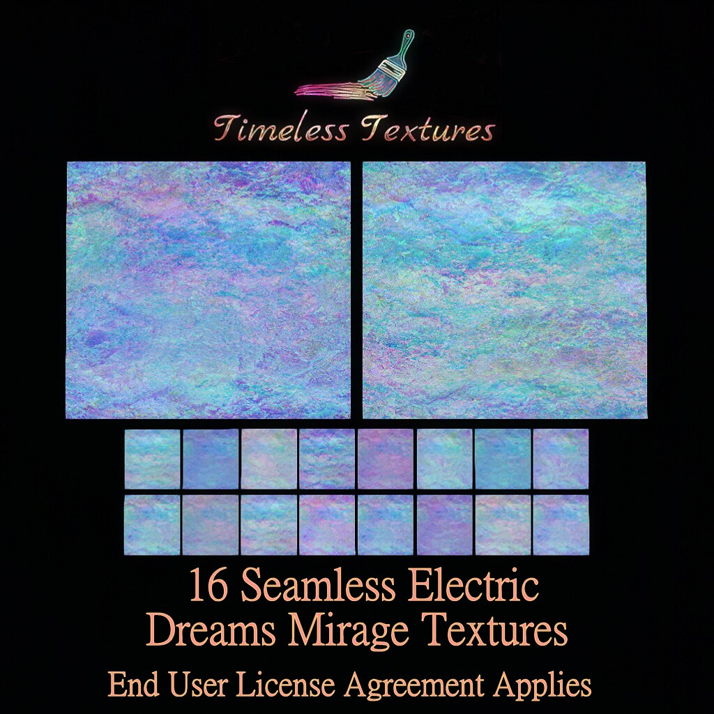 2020 Advent Gift Dec 9th - 16 Seamless Electric Dreams Mirage Timeless Textures
