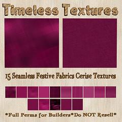 TT 15 Seamless Festive Fabrics Cerise Timeless Textures