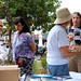 Annie & Kath talking with people at the Stall - pic by Gwilym