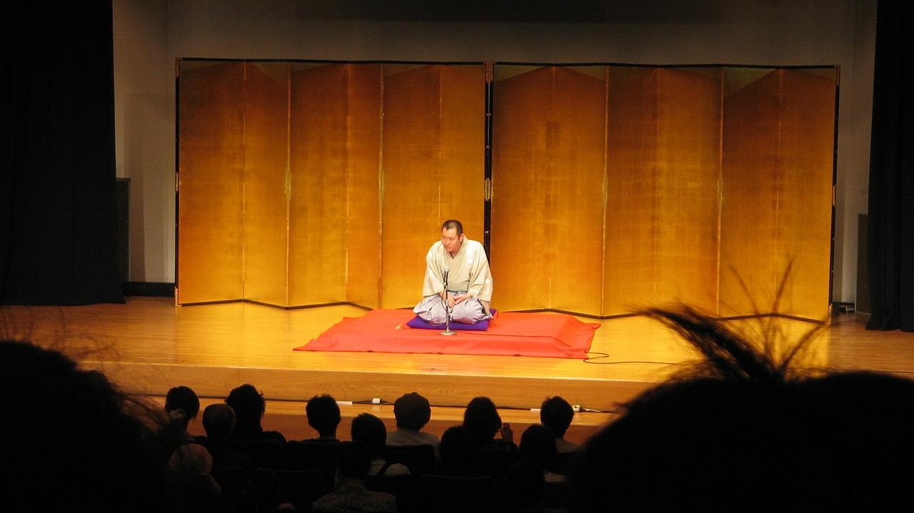 Japanese rakugo storytelling performance.