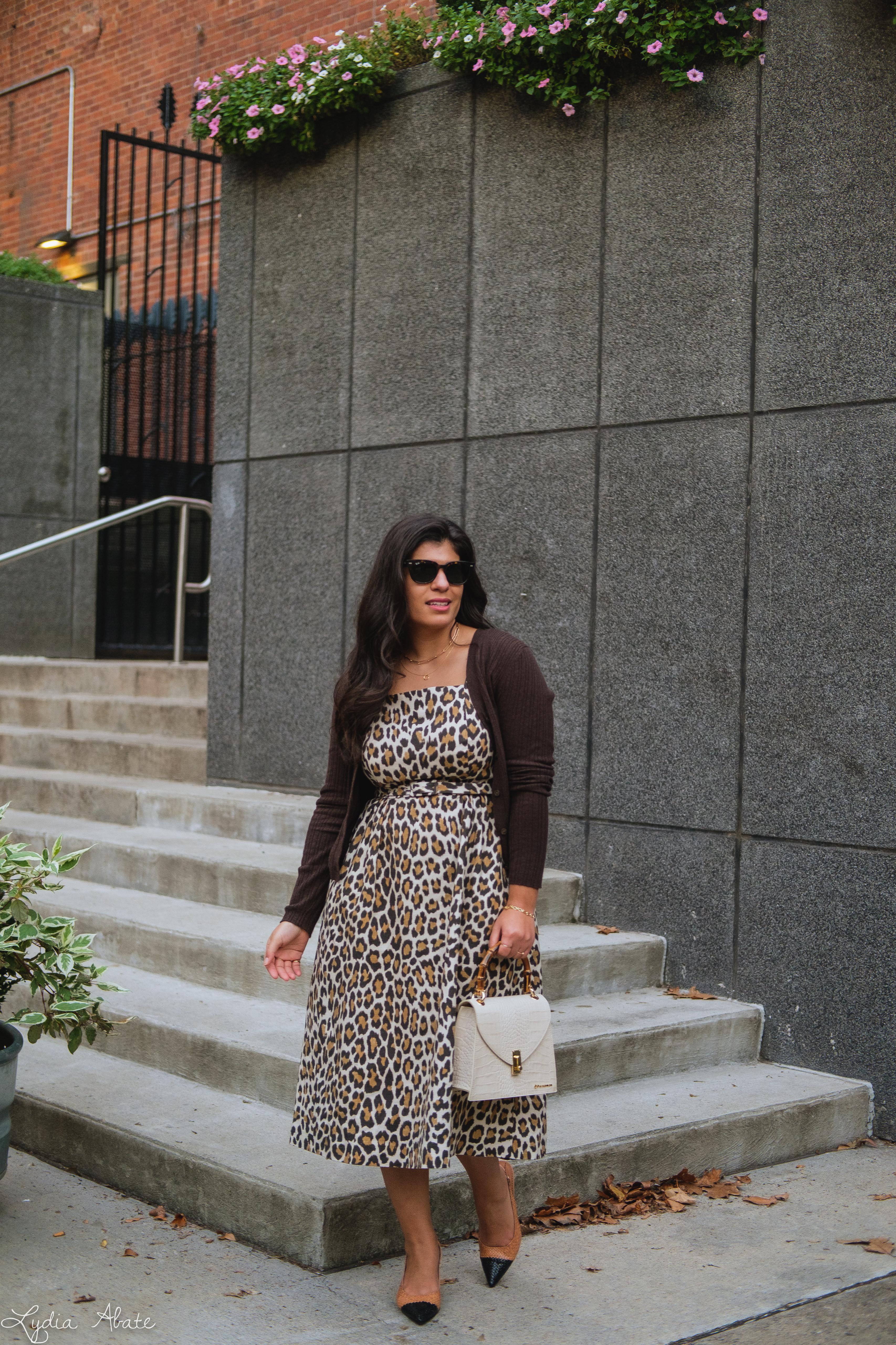 leopard dress, brown ribbed cardigan, woven toe cap slingbacks, cream croc purse-8.jpg