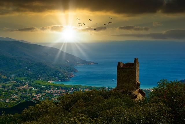Elba island sunset / Italy