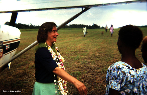 Jerrie shortly after landing in Papua New Guinea 1969. From Move Over Amelia, That's My Grandma's Place in History – Celebrating the First Woman to Fly Around the World