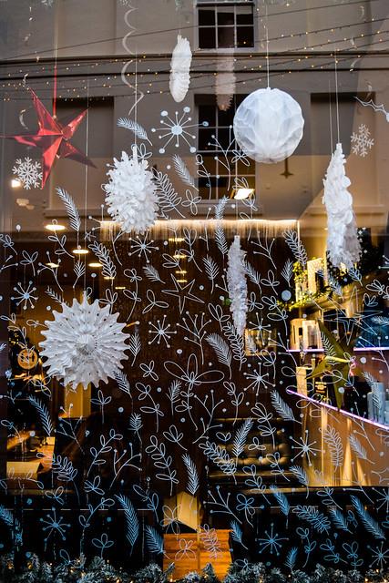 Tony & Guy Painted Canterbury Christmas Window 2020