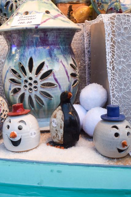 Canterbury Pottery Christmas Window 2020
