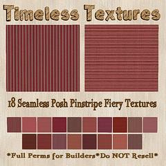 TT 18 Seamless Posh Pinstripe Fiery Timeless Textures