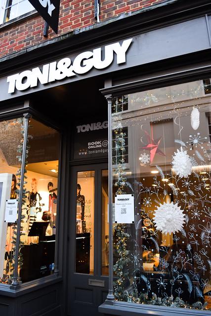 Tony & Guy Canterbury Christmas Window 2020