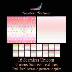 TT 16 Seamless Unicorn Dreams Sunrise Timeless Textures