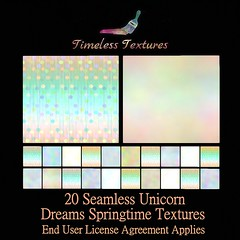 TT 20 Seamless Unicorn Dreams Springtime Timeless Textures
