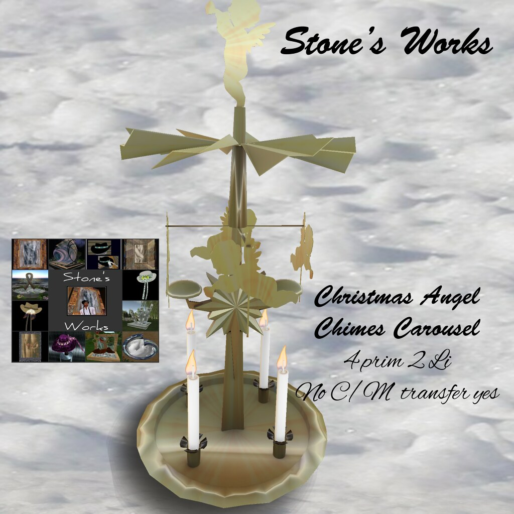 Christmas Angel Chimes Carousel Stone's Works